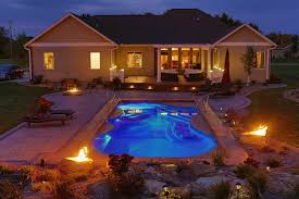 new great lakes in ground fiberglass pool by san juan san juan fiberglass pool s pleasure island model 16 x40 pool spa