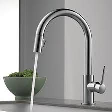amazon kitchen faucets delta faucet 9159 cz dst trinsic single handle pull kitchen