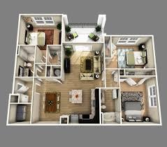 homes with open floor plans marvelous 3d open floor plan 3 bedroom 2 bathroom search