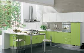 kitchen splendid green kitchen style with green wall also island