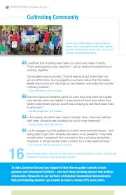 to turn a schoolyard into gratitude report u2013 common ground
