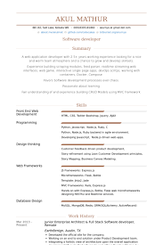resume for software developer enterprise architect resume samples visualcv resume samples database