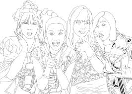 2ne1 Coloring Page By Bgoodrum On Deviantart Coloring Pages Kpop