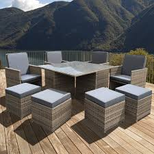 Rattan Patio Furniture Sets by Modern Rattan Garden Furniture Sofa Set Lounger 8 Seater Outdoor