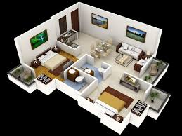 open space house plans bedroom house plans ideas simple with 3d sketch 4 of three