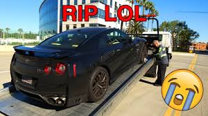 nissan gtr extended warranty towing my 2017 nissan gt r to the dealer youtube
