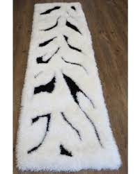Shaggy Runner Rug Deal On Tufted Modern Shaggy Indoor Runner Rug In Zebra