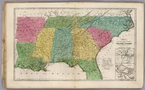 Physical Map Of The United States by Political Map Of The Southern Division Of The United States