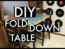 diy wall mounted drop leaf table diy wall mounted fold down table youtube