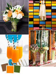 12 fall wedding color combos steal