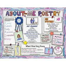 Ready To Decorate About Me Poetry Pin Board Posters
