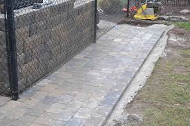 Paver Patio Edging Options Paver Interlock Walkway With A Border Details