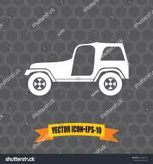 jeep dark gray vector icon jeep on dark gray stock vector 316748117 shutterstock