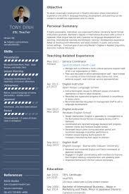 Tefl Resume Sample by Service Coordinator Resume Samples Visualcv Resume Samples Database