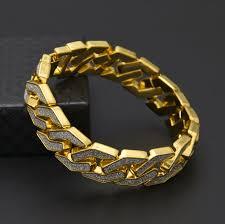 crystal buckle bracelet images Free dhl hip hop alloy buckle bangle crystal link bracelet bangle jpg