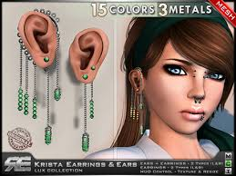 earrings for second second marketplace re krista earrings ears mesh