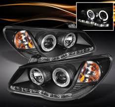 2007 hyundai elantra tail light bulb hyundai elantra 2007 2010 black halo projector headlights with led