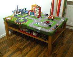 lego table created using an ikea lack table lego baseplates and