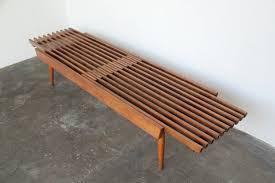 iridium interiors u2014 expanding slat wood bench coffee table
