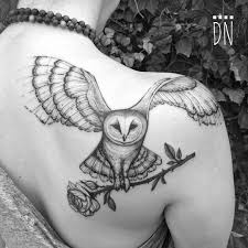 owl tattoo simple barn owl and rose for liz first tattoo animal tattoo designs