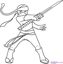 ninja coloring glum