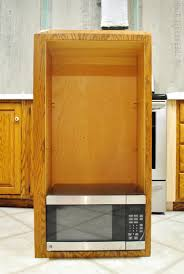 Microwave Inside Cabinet How To Hide A Microwave Building It Into A Vented Cabinet