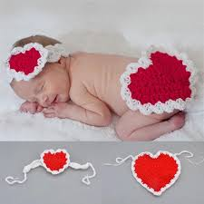 valentines baby 2018 newborn baby s day hearted costume knitted heart