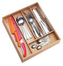 bamboo flatware amazon com cutlery trays home u0026 kitchen