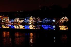Boat House Row - philadelphia lights up in blue and gold for drexel u0027s 125th