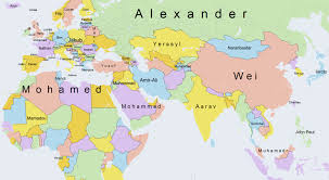 clear world map with country names this fascinating map shows the most popular boys names around the