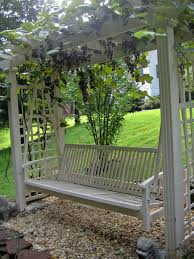 wrap arbor with grape vines or any other climbing plant yard