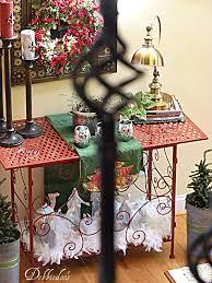 christmas decorating vignettes nativity set debbiedoos
