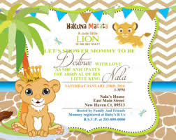 lion king baby shower invitations lion king baby shower party package lion king birthday