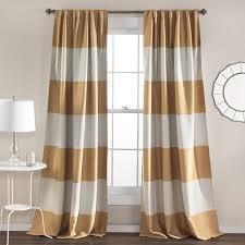 Window Curtain Decor Lush Decor Montego Stripe Window Curtain Panel Set 84