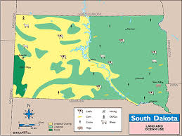 map south dakota south dakota land use map by maps from maps world s