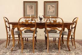 Maple Table And Chairs Sold Milling Road By Baker Vintage Maple Dining Table 2 Pull