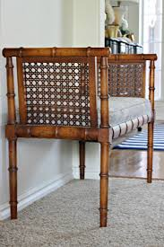 Vintage Bamboo Chairs How To Recover An Upholstered Bench Or Chair Seat Bamboo Bench