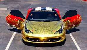 gold ferrari 458 italia gold chrome ferrari 458 italia for goldrush rally vi gtspirit