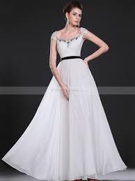 jeweled wedding dresses jeweled neckline cap sleeved flowing chiffon wedding dress