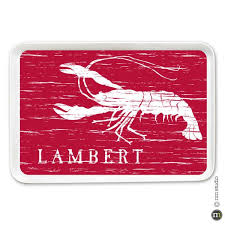 personalized trays crawfish tray personalized cling creative living