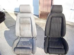fox mustang seats acme mustang sport seat upholstery black cloth 87 89 convertible