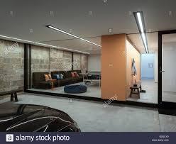 basement car park and games room w house sydney australia stock