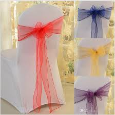 bows for wedding chairs wedding chair sashes chairs organza bows for wedding chair sashes