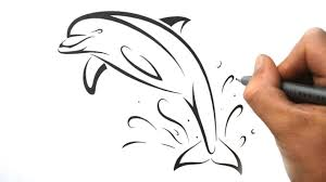 how to draw a dolphin tribal tattoo design style youtube
