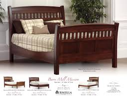 Amish Oak Bedroom Furniture by Jake U0027s Amish Furniture Barrs Mill Mission Bed In Cherry Barrs