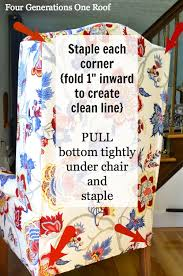 How To Reupholster A Side Chair How To Reupholster A Chair Tutorial Video Four Generations