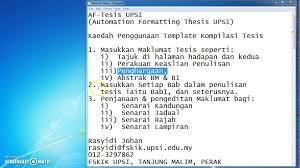 format abstrak tesis template kompilasi tesis video 1 youtube