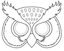 owl mask owl masks esl teaching materials for primary students