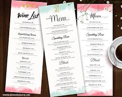 design u0026 templates menu templates wedding menu food menu bar