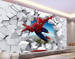 3d brick wall cartoon decoration painting background wall mural 3d